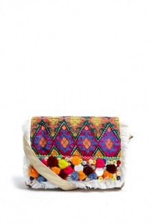 Taruda Bag Pom Pom Clutch By Christophe Sauvat