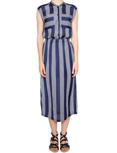 Striped Midi Dresses Cute Summer Chiffon Dresses 69