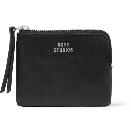Acne Zipped Leather Wallet Mr Porter