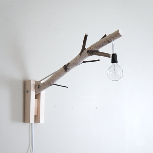 Wall Desk Lighting : Exposed Bulb Woodland Wall Desk Lamp Natural By Nuji
