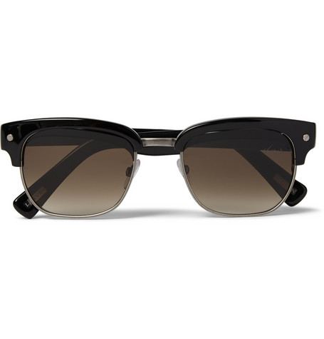 Lanvin Square Frame Acetate And Metal Sunglasses Mr Porter