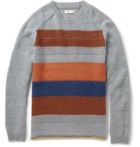 Folk Jummy Striped Wool Blend Sweater Mr Porter