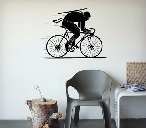 Ninja Rider Wall Decal Cool Material
