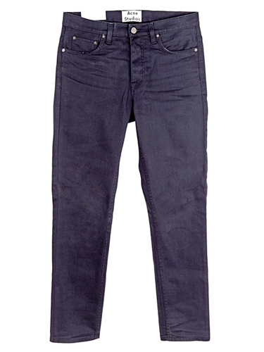 Acne Studios Men's Town Moon Cropped Matt Denim Jeans Ln Cc
