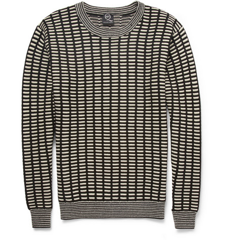 Mcq Alexander Mcqueen Grid Knit Wool And Cashmere Blend Sweater Mr Porter