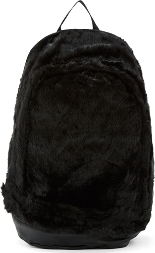 Ktz Ssense Exclusive Black Fur Leather Backpack Ssense