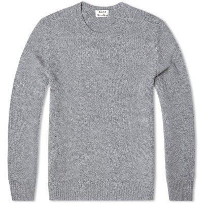 Acne Chet Crew Knit Grey