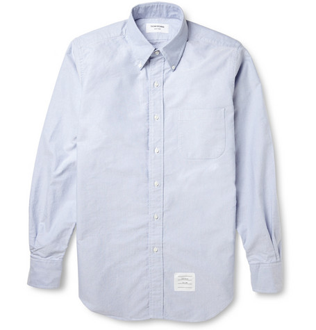 Thom Browne Button Down Collar Cotton Oxford Shirt Mr Porter