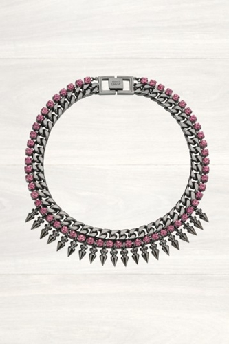 Buy Womens Mawi Spike Necklace With Pink Crystals Start London