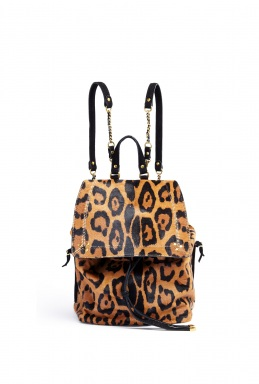 Jerome Dreyfuss Florent Leopard Print Slouch Backpack By Jerome Dreyfuss