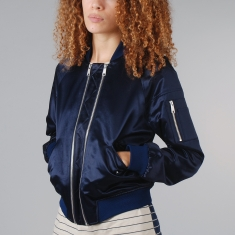 Surface To Air Corniche Bomber Jacket Dark Sapphire