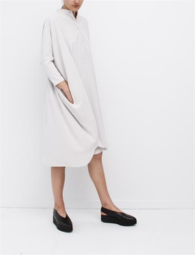 Mm6 By Maison Martin Margiela Wide Fluid Dress Chalk