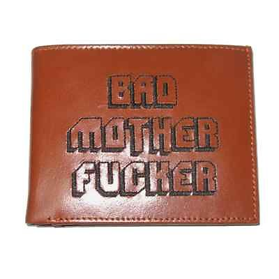 Bad Mother F Cker Leather Wallet Embroidered Pulp Fiction Mens Jules Mofo New Ebay