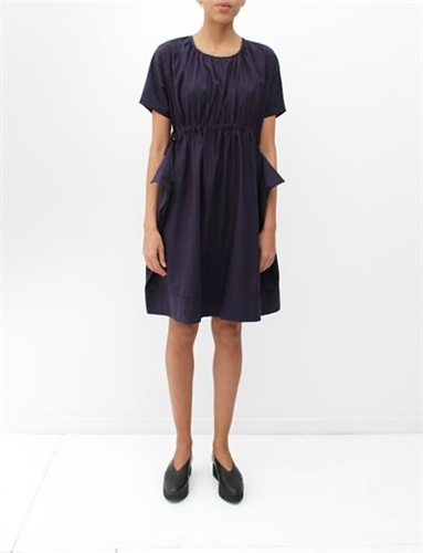 Caron Callahan Mario Dress Navy
