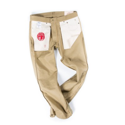 Japan Blue Tapered Selvage Chinos Light Brown