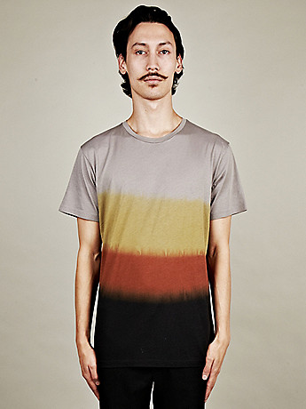 Marc by Marc Jacobs Men s Dip Dyed T Shirt in earth tones at oki ni