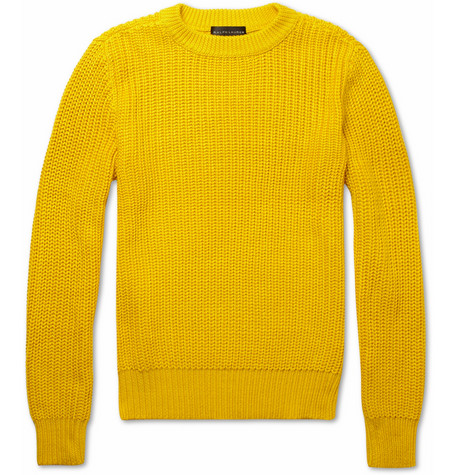 Ralph Lauren Black Label Knitted Silk And Cotton Blend Sweater Mr Porter