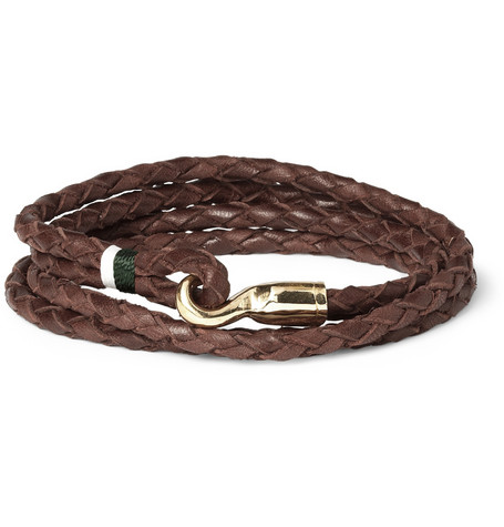 Miansai Trice Woven Leather Bracelet MR PORTER