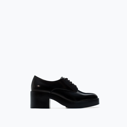 Derbys A Plate Forme Trf Chaussures Femme Zara France