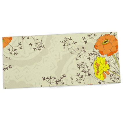 Amazon.Com Kess Inhouse Nandita Singh Flowers And Twigs Tan Orange Office Desk Mat Blotter Pad Mousepad 13 X 22 Inches Office Products