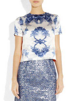Preen Rosemary printed silk satin top NET A PORTER COM