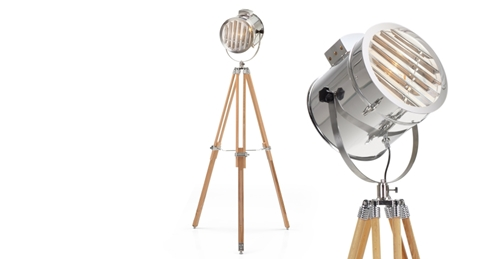 Alfred Tripod Floor Lamp In Natural Wood Made.Com
