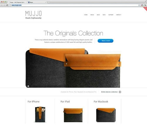 The Originals Collection Redesigned Mujjo Homepage Like it or not