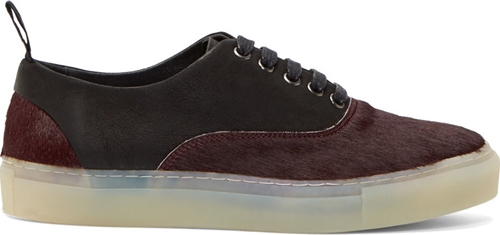 Silent By Damir Doma Burgundy Calf Hair Leather Sneakers