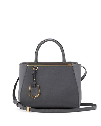 Fendi 2Jours Mini Tote Bag Gray Neiman Marcus