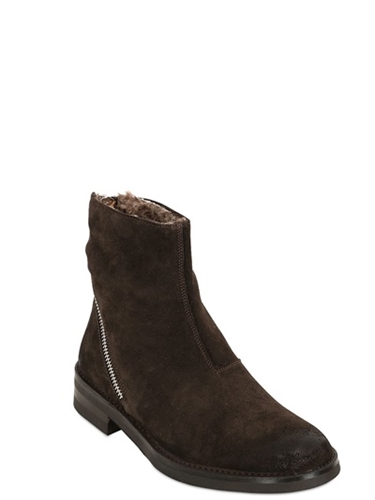 Koil Leather Ankle Boots W Faux Fur Lining Luisaviaroma Luxury Shopping Worldwide Shipping Florence