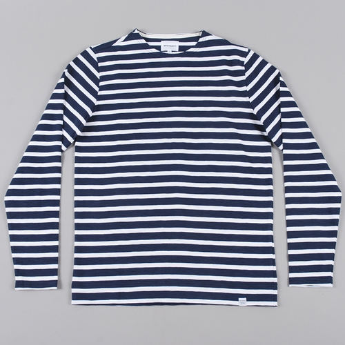 Norse Projects Godtfred Compact Jersey L S Navy