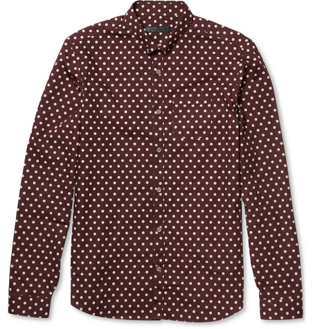 Burberry Prorsum Polka Dot Cotton Shirt MR PORTER