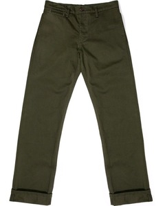 Left Field Nyc Olive Japanese Military Twill Chinos