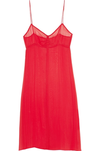 Topshop Unique Silk Georgette Slip Dress Net A Porter.Com