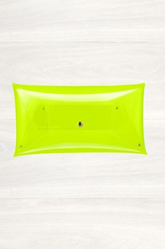 Buy Womens Klear Klutch Neon Yellow Small Envelope Clutch Start London
