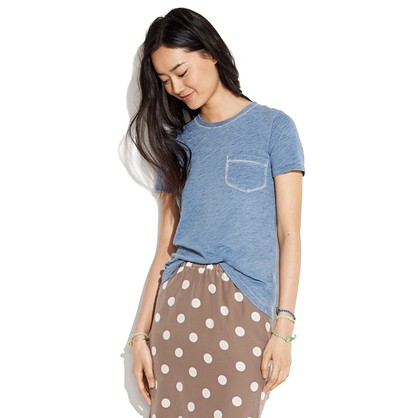 Indigo Ink Pocket Tee indigo ink Women s TEES TANKS Madewell