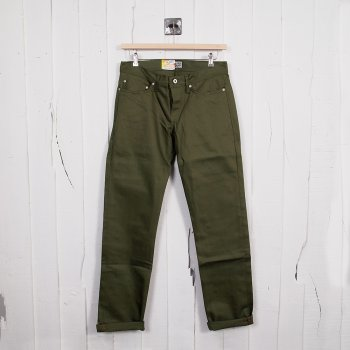 Naked Famous Denim Chinos Weirdguy Khaki Selvedge Buy Mens Designer Jeans At Denim Geek