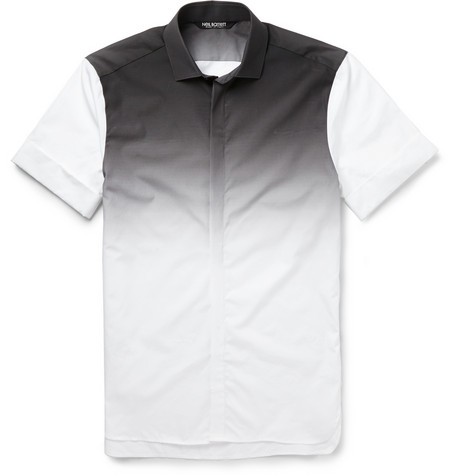 Neil Barrett Slim Fit Degrade Cotton Shirt Mr Porter