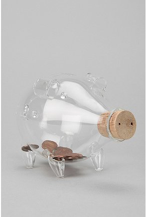 UrbanOutfitters com Blown Glass Piggy Bank