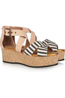 Minimarket Mirage canvas wedge sandals 65 Off Now at THE OUTNET