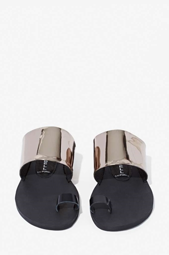 Jeffrey Campbell Olbia Leather Sandal Shop What's New At Nasty Gal
