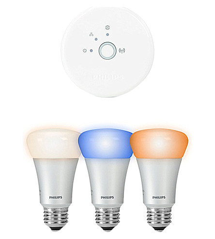 Philips Philips Hue Personal Wireless Lighting A19 Bulb Starter Kit Selfridges.Com