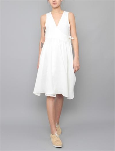 Creatures Of Comfort Desa Dress Italian Linen White
