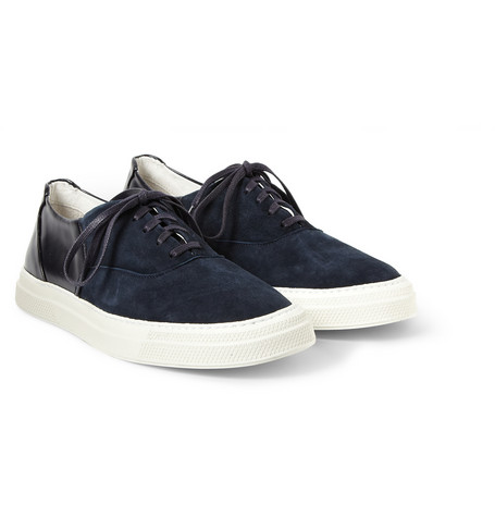 Folk Suede And Leather Panelled Sneakers Mr Porter
