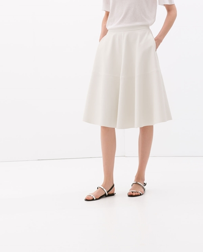 Faux Leather Flared Skirt Skirts Woman Collection Aw14 Zara Netherlands