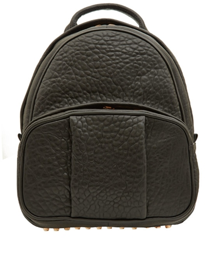 Alexander Wang Black Leather Dumbo Backpack With Rose Gold Studs Backpacks Liberty.Co.Uk