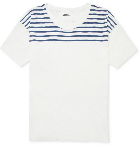 Margaret Howell MHL Striped Cotton and Linen Blend T Shirt MR PORTER