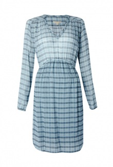 Marie Check Silk Dress By Burberry Brit