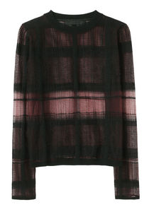 Alexander Wang Plaid Trompe L Oeil Pullover La Garconne
