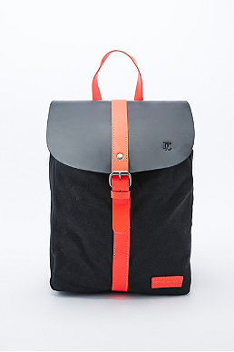 Forbes Lewis Canvas Littlehampton Backpack In Black